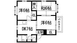ヒルズコート[2階]の間取り
