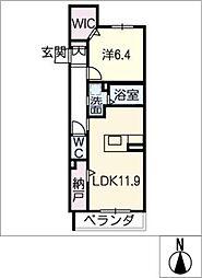 仮)ベレオ八熊2丁目[2階]の間取り