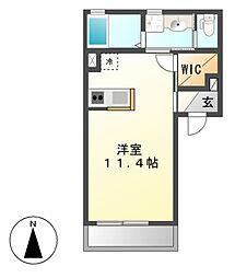 愛知県名古屋市中村区乾出町1丁目の賃貸アパートの間取り