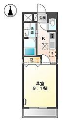 JR瀬戸大橋線 上の町駅 徒歩8分の賃貸アパート 1階1Kの間取り