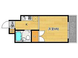 分譲パラドール円町[104号室]の間取り