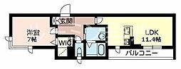 カーサグラスB[2階]の間取り