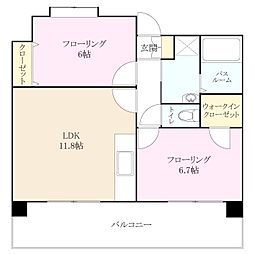 福岡県福岡市東区二又瀬丁目なしの賃貸マンションの間取り