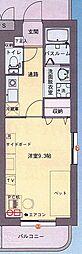メゾンパークスII[4階]の間取り
