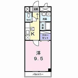 京都府京都市伏見区向島善阿弥町の賃貸アパートの間取り
