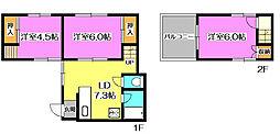 [一戸建] 埼玉県所沢市三ケ島1丁目 の賃貸【/】の間取り