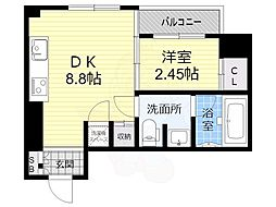 LEGIAN-002 2階1DKの間取り