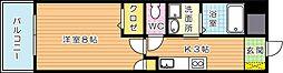 グランドツイン黒崎 A棟[6階]の間取り