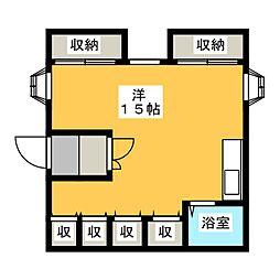 柿ノ木茶屋2階[2階]の間取り