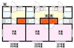 埼玉県鶴ヶ島市大字五味ヶ谷の賃貸アパートの間取り