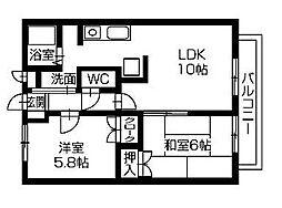エクセレントK[2階]の間取り