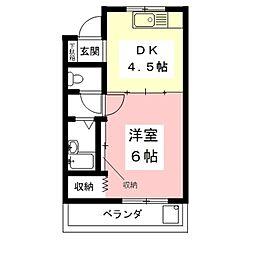 坂野ビル[2-2号室]の間取り