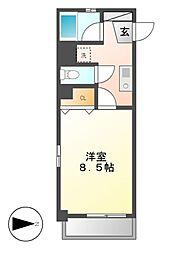 X-over21覚王山[3階]の間取り