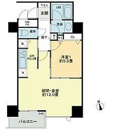 ベルファース大阪新町[2階]の間取り