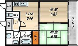 ハイウェール7階Fの間取り画像
