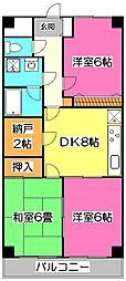 埼玉県所沢市大字久米の賃貸マンションの間取り