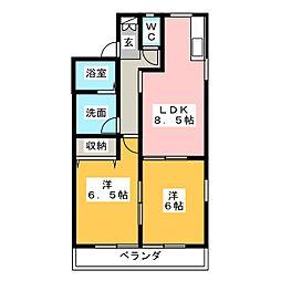 サニーコート船江[2階]の間取り