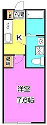 東京都練馬区高野台4丁目の賃貸アパートの間取り