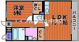岡山県岡山市北区今保丁目なしの賃貸マンションの間取り