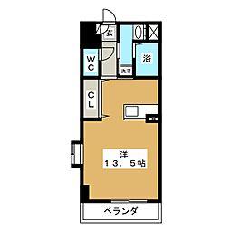 ブルースカイマンションV[4階]の間取り