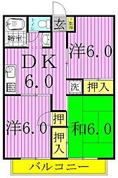 パールハイツ岡田41[2階]の間取り