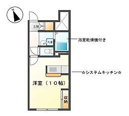 愛知県名古屋市天白区土原2丁目の賃貸アパートの間取り