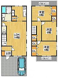 [一戸建] 大阪府堺市中区東山 の賃貸【/】の間取り