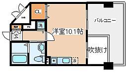 兵庫県神戸市兵庫区中道通9丁目の賃貸マンションの間取り