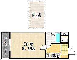 ヒューマスタ39[504号室]の間取り
