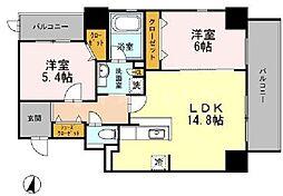 Y'sCourt東梅田[8階]の間取り
