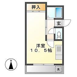 KMハイツ[6階]の間取り