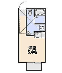 プラミネントII[1階]の間取り