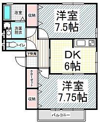 エスポワール富竹C棟[3階]の間取り