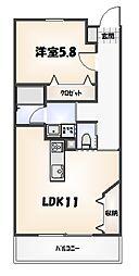 デザイナーズ 1LDK[102号室]の間取り