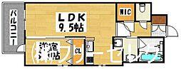 エンクレスト大博通りAPEX[9階]の間取り