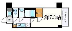 エスリード新栄デュオ 3階1Kの間取り