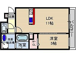 山崎マンション15[2階]の間取り