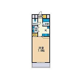ドゥ・ソレイユ[3階]の間取り