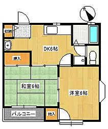 メゾングリーンパークS-2[2階]の間取り