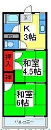 中野ハウス[106号室]の間取り