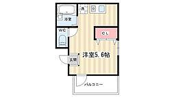 エムハウス京都[2階]の間取り