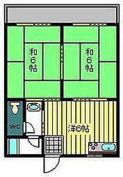 コーポ矢野[203号室]の間取り