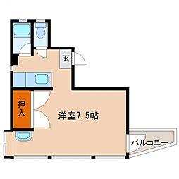 エレメント大橋[507号室号室]の間取り