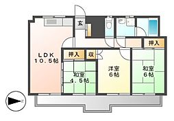 ラ・メゾン伊藤[6階]の間取り