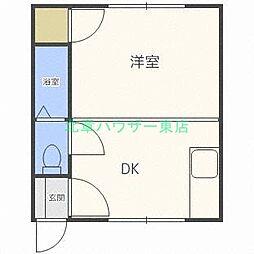 北海道札幌市東区北十三条東14の賃貸マンションの間取り