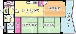 プレアール赤坂[402号室]の間取り