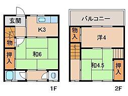 日方アパート[2階]の間取り