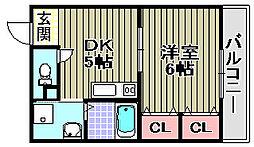カーサ福田[303号室]の間取り