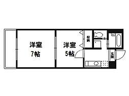 マッケンジー東堀川[3階]の間取り