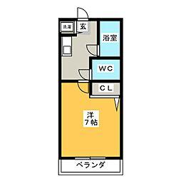 ロイヤルコート太宰府[1階]の間取り